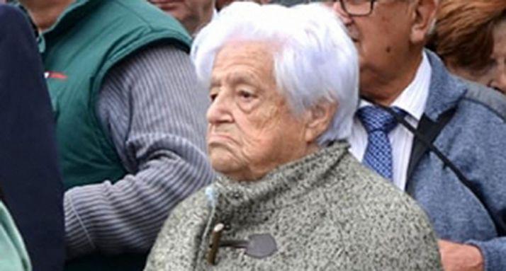 Mª Eugenia Yagüe, en un acto en San Leonardo en octubre. /SN