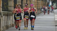 El equipo femenino de duatlón del Triatlón Soriano. Triatlón Soriano