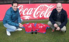 Del Pino (izda.) y Rabanal tras confirmar el acuerdo. /CDN
