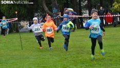 Jóvenes atletas en la prueba de este domingo en la Dehesa. /SN