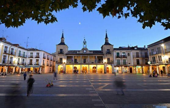 Plaza en El Burgo de Osma.