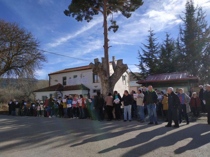 Manifestación en Villar del Río. Cedida