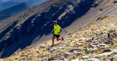 Un corredor en los pedregales del Moncayo.