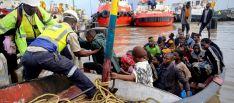 Mozambiqueños asistidos tras las el ciclón 'Idai'.