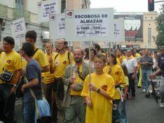 Soria Ya y Teruel Existe se manifestaron en Madrid en 2003.