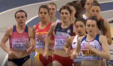 Marta Pérez, (2ª izda.) durante la carrera. /Teledeporte