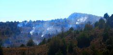 Una imagen del incendio de ayer miércoles. /GC