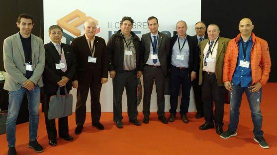 José Luis Mateo, con responsables del sector de las provincias castellano-leonesas. /FOES