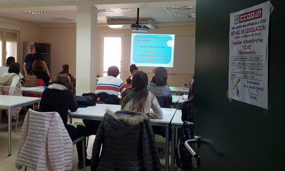 Uno de los talleres celebrado en la sede del sindicato en Soria. /CCOO