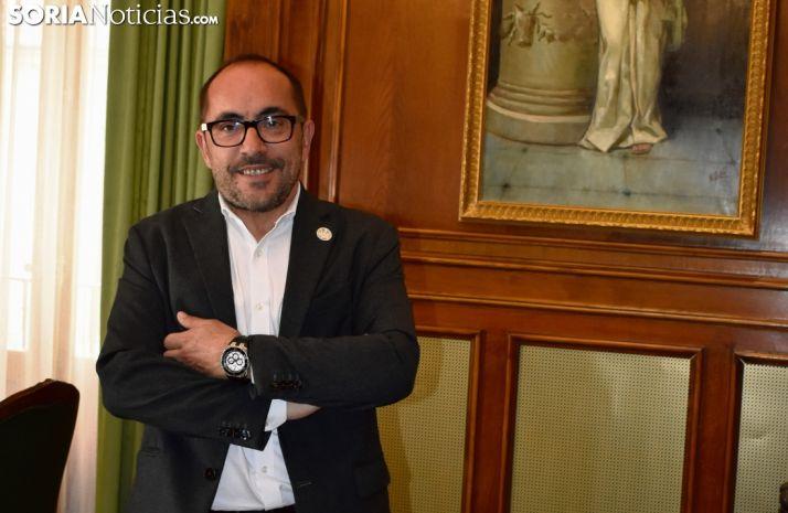 Luis Rey, en la Diputación de Soria. SN