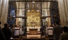 Una imagen de la celebración eucarística este miércoles. /DOS