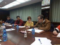 Una imagen del encuentro con Podemos. /CCIS