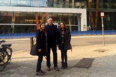 Miembros de la SSPA ante el edificio que alberga el Comité económico y social europeo. /SSPA