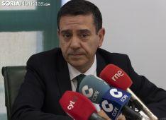 Rueda de prensa en Caja Rural Soria. /Jasmín Malvesado.