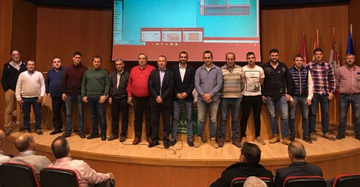 Una imagen de la asamblea de ASAJA Soria este jueves.