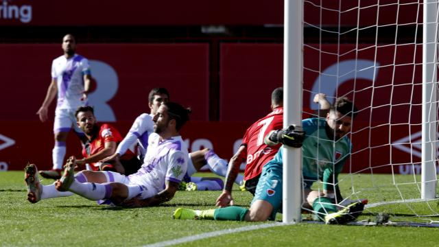 El Numancia cayó (1-0) en Son Moix durante el encuentro de ida.