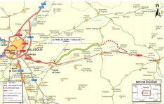 Mapa del plano de las obras.