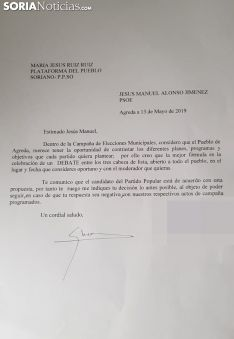 El escrito presentado en el ayuntamiento agredeño.