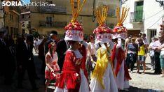 Móndidas en unas fiestas de San Pedro Manrique. /SN