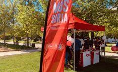 Una carpa electoral del PSOE este martes en la capital. /PSOE_Soria