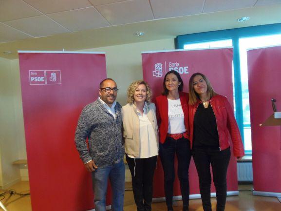 Visita de la ministra Reyes Maroto en Ólvega. PSOE