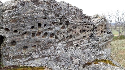 Taforis o nidos de abeja en El Bustarejo.