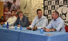 Pérez Langa (izda.), Mínguez, García y Majada, en la presentación de la feria sanjuanera. /SN